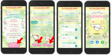 サンリオキャラクター大賞・総選挙投票方法