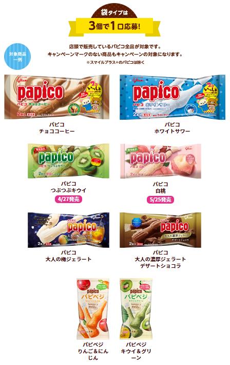 リラックマのパピコ対象商品