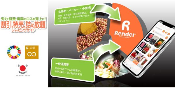 割引・特売・詰め放題Renderで食品ロス削減