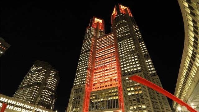 東京アラート新宿都庁ライトアップ赤