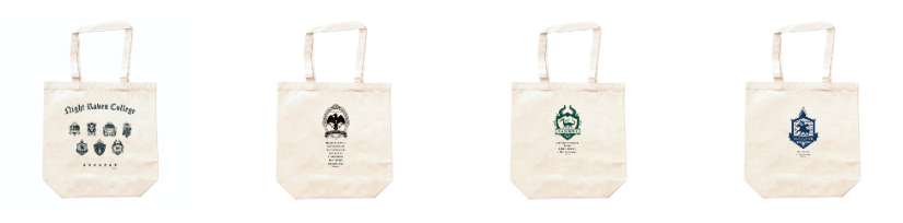 ツイステエコバッグ布シンプル寮ロゴ