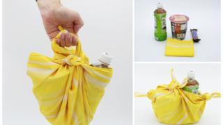 風呂敷エコバッグ結ぶだけ簡単2種類