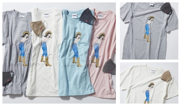 Edwinジーパン女子・江口寿史Tシャツマスク付き予約