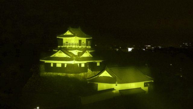浜松城ライトアップコロナ警戒2