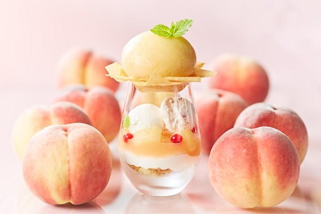 恋する桃のパフェ付 週末ご褒美ランチ