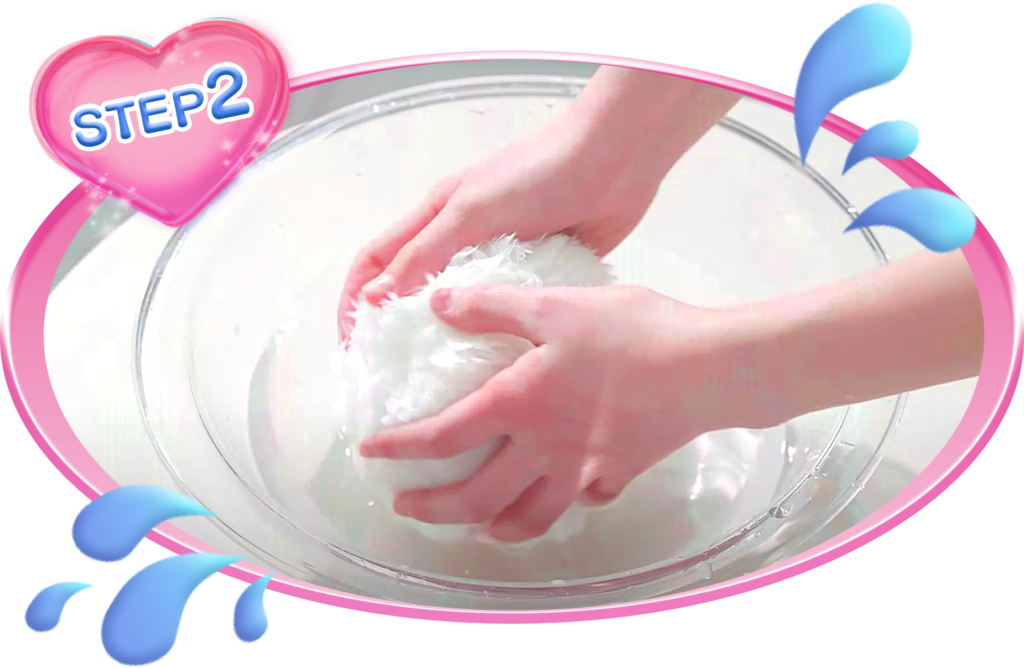 ピカチュウ毛玉水洗い変身洗い方