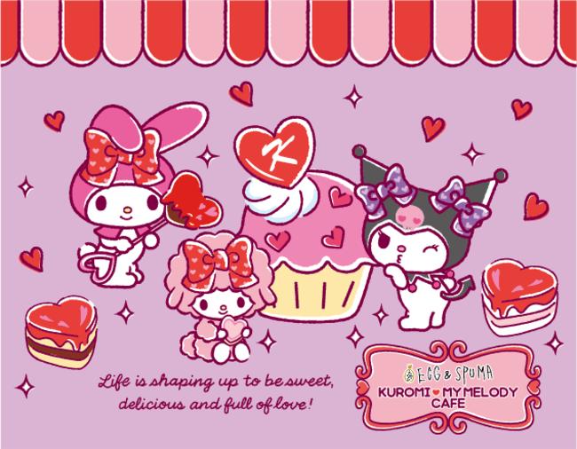 クロミ&マイメロディのコラボカフェにハロウィンメニュー登場!「KUROMI♡MY MELODY CAFE」EGG&SPUMA