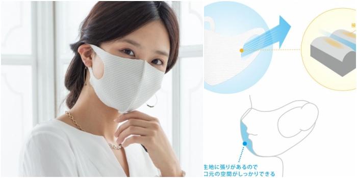 タクミバ夏マスク洗える伸縮ドライ仕様
