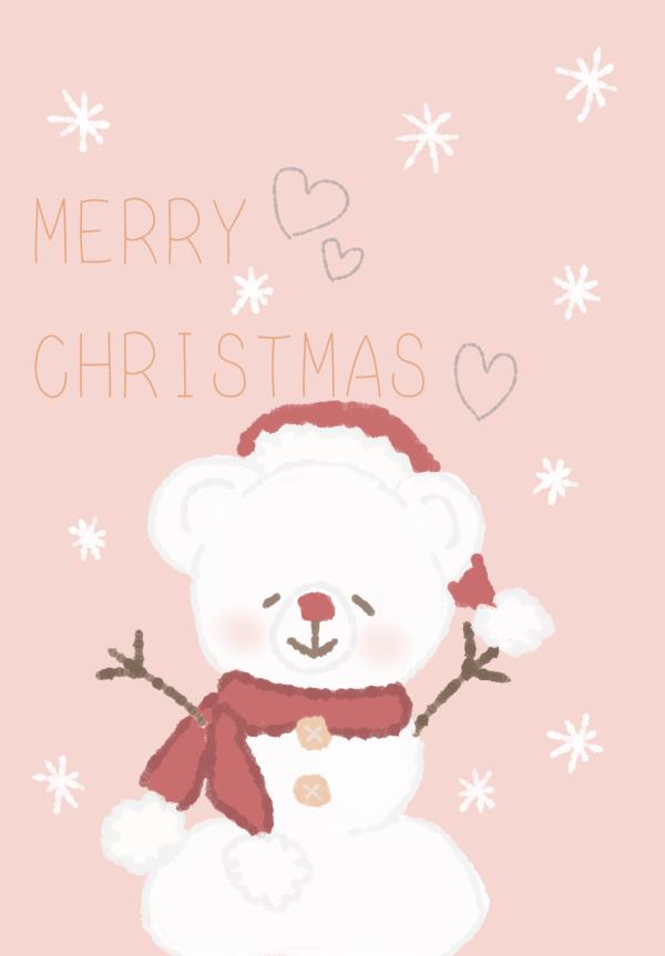 クリスマスカードイラスト無料かわいいななひ-003