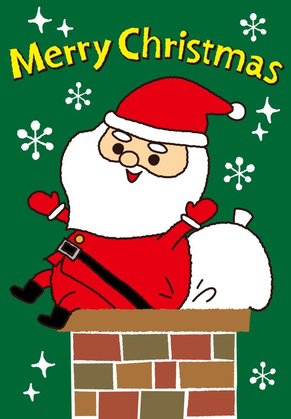 クリスマスカードイラスト無料かわいいKiki design-005