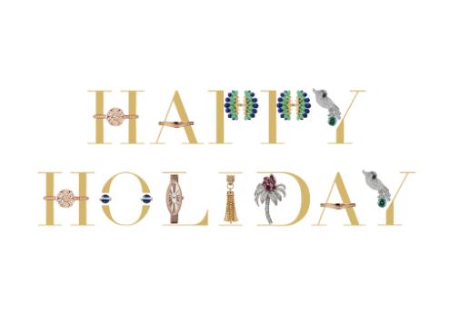 カルティエクリスマスカード Cartier-wish送る