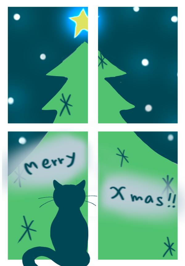 クリスマスカードイラスト無料かわいいNagisa web-008