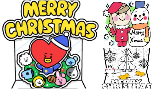 LINEクリスマスカードスタンプ2020動く動画