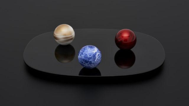 ミニ骨壺宇宙惑星こころぼし高岡銅器