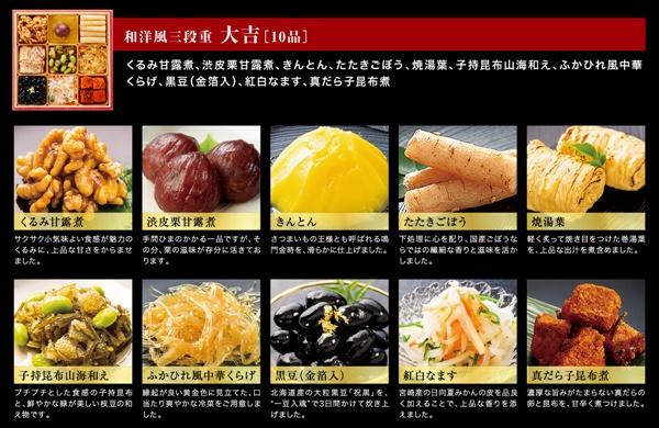 3.板前魂の大吉おせち2021木村佳乃種類取扱003