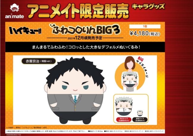 3-2ハイキュー「ふわコロりんBIG3」予約・販売開始!グッズ(ぬいぐるみ・マスコット)通販・取扱い店舗